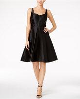 Calvin Klein Satin Fit & Flare Dress