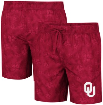 Colosseum Men's Crimson Oklahoma Sooners Kavai Swim Trunks