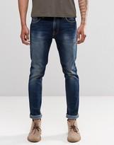 Nudie Jeans Lean Dean Slim Tapered Fit Peel Blue Dark Wash