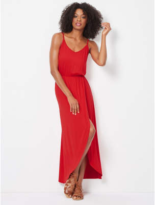 George Wrap Front Maxi Dress