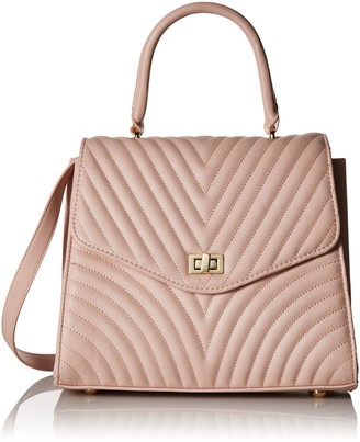 Steve Madden Coco Ladies TOP Handle Non Leather Satchel with Chevron Quilting