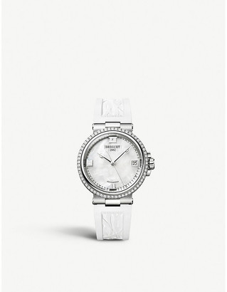Breguet 9518ST/5W/584/D000 Marine Dame polished stainless steel, diamond and rubber watch