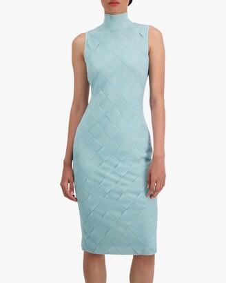 Herve Leger Textured Bandage Midi Dress