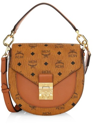 MCM Small Patricia Visetos Saddle Bag