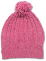 Baby CZ Bright Pink Ribbed Cashmere Pom-Pom Hat - Toddler & Girls