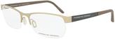 Beige & Brown Half-Rim Rectangular Eyeglasses - Women