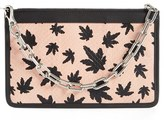 Alexander Wang Leaf Print Genuine Snakeskin Leather Pouch - Pink