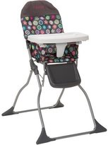 Cosco Simple Flat Fold High Baby Chair with Easy Wipe Designable Seat, Full Size, 3-position Adjustable Tray, Bloom by