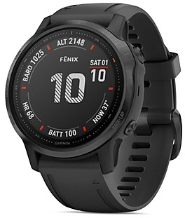 Garmin Fenix 6S Black Silicone Strap Smartwatch, 42mm