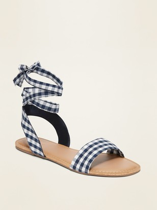 Old Navy Lace-Up Ankle-Tie Sandals for Women