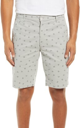 AG Jeans Griffin Geo Print Flat Front Shorts