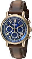 Fossil Men's FS5148 Buchanan Chronograph Dark Brown Leather Watch