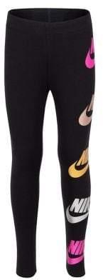 Nike Little Girl's Metallic Logo Leggings