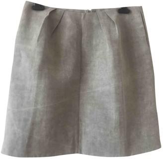 Marni Grey Linen Skirt for Women