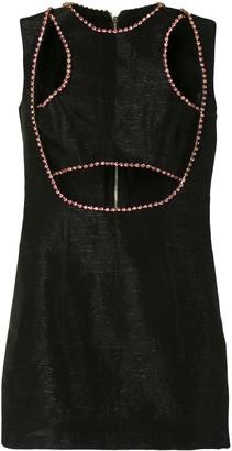 Onalaja Ellia embellished cutout mini dress