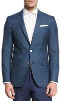 HUGO BOSS Birdseye Wool Two-Button Sport Coat, Bright Blue Teal