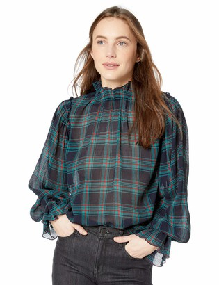 The Fifth Label Women's Zone Tartan Mock Neck Long Sleeve Top