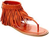 Tod's Nubuck Fringe Sandal
