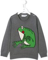 Mini Rodini frog intarsia jumper