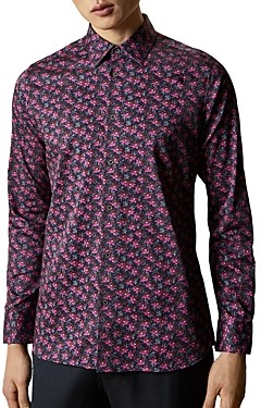 Ted Baker Floral Slim Fit Button-Down Shirt