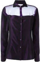 Romeo Gigli Pre Owned sheer panel shirt