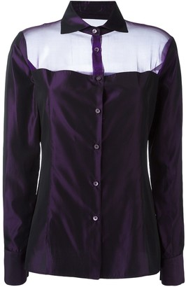 Romeo Gigli Pre-Owned Sheer Panel Shirt
