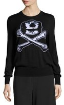 Libertine Dog & Bones Intarsia Cashmere Sweater, Black