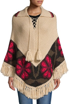 Trina Turk Printed Knit Poncho