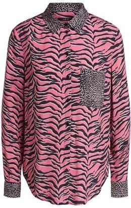 Set Fashion - Pink Tiger Print Shirt - DK38-UK12