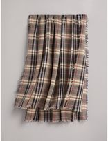 Burberry Check Modal and Wool Square Scarf