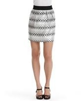 Aqua Dot Brocade Miniskirt