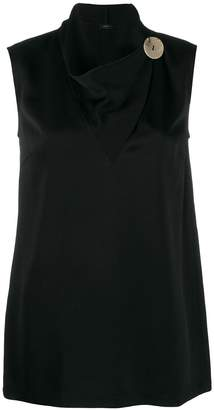 Joseph cowl-neck sleeveless blouse
