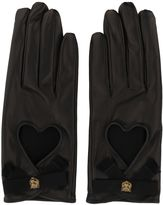 Gucci Bow Detail Leather Gloves
