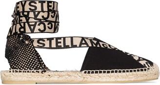 Stella McCartney Gaia logo strap espadrilles