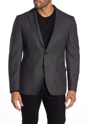 Calvin Klein Black Birdseye Two Button Notch Lapel Slim Fit Suit Separates Sport Coat