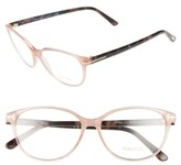 Tom Ford Women's 55Mm Optical Glasses - Pink