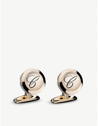 Chopard Classic C rose-gold PVD and stainless steel cufflinks