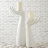 The Well Appointed House Palma Candleholder in Matte White Finish