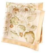 Hermes Beige Capucines Silk Pocket Square.