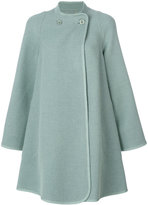 Chloé flared trapeze coat - women - Polyamide/Virgin Wool - 36