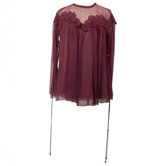 Chloé Burgundy Silk Top for Women