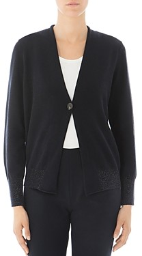 Peserico Virgin Wool-Blend Single-Button Cardigan