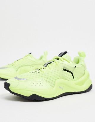 Puma Rise Glow sneakers in neon yellow