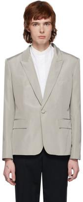 Haider Ackermann Grey Silk Classic Blazer