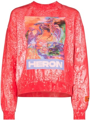 Heron Preston birds print sweatshirt