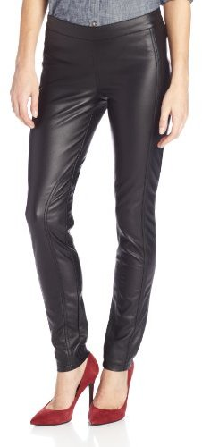 BCBGeneration Women's Faux Leather Princess Seam Skinny Pant