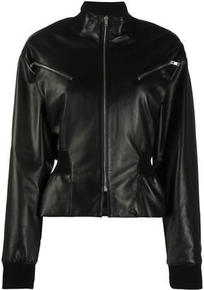 Isabel Marant Gathered-Waist Leather Jacket