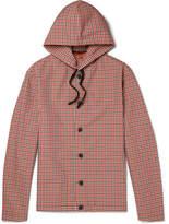 Barena Gingham Shell Hooded Jacket