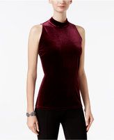 INC International Concepts Velvet Mock-Neck Shell, Only at Macy's