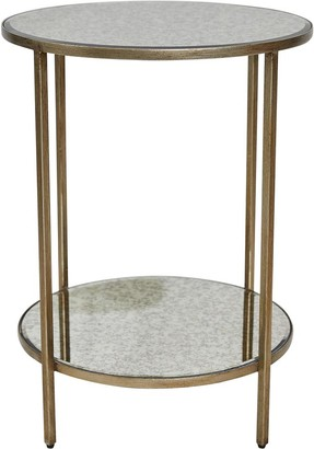 Cafe Lighting Martini Side Table Antique Gold